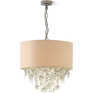 None Wedmore Ceiling Light Shade With Crystal Droplets - Cream Lighting, Cream