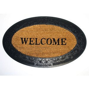 None Welcome Oval Coir Doormat Home Accessories