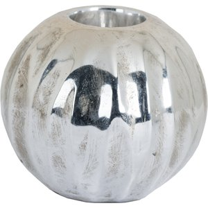 Medium Spherical Detailed Metallic Ceramic Tealight Holder 19399