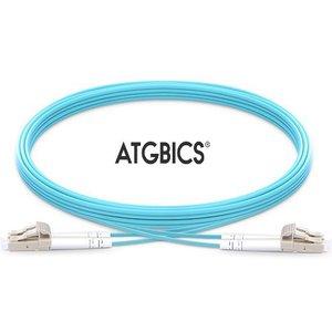 Atgbics Aj836a-c Fibre Optic Cable 5 M Lc/upc Ofnr Om3 Aqua Colour