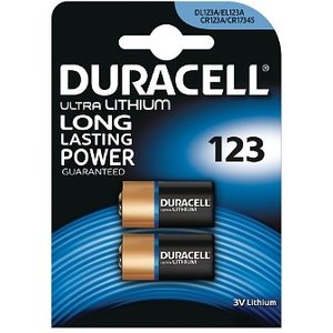 Duracell Ultra M3 Lithium Pack Of 2 Single-use Battery Dl123 X2