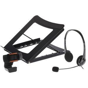 Maplin Back To Uni Kit With High Definition Webcam, Usb Headset & Laptop Stand Mapb2u