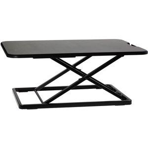 Proper_av Properav Slim Profile Sit Or Stand Up Desktop Workstation 5 Height Settings - Bl Desk05b