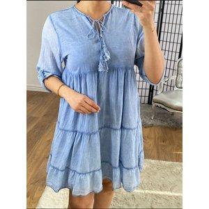 Bows Boutiques Dara Plain Tassel Detail Smock Dress - Denim Dara Tassel Detail Smock Dress 944023 Denim Womens Clothing, Denim