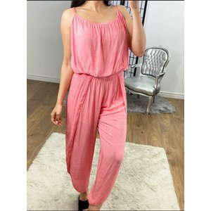 Bows Boutiques Trula Pleat Detail Loose Fit Jumpsuit - Coral Trulapleatdetailloosejumpsuit Coral Womens Clothing, Coral