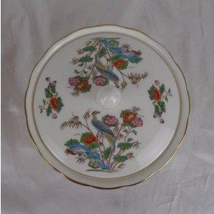 A Wedgwood Kutani Crane Bowl With Lid. Home Accessories