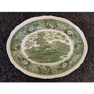 Adams English Scenic Green Platter Home Accessories