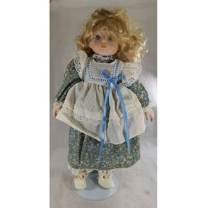 Blonde Doll With Floral Dress Dolls