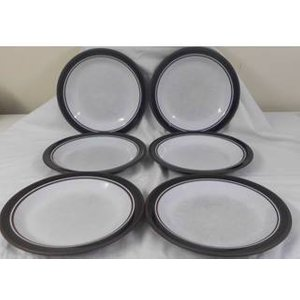 Hornsea Contrast Pattern Dinner Plates X 6 Home Accessories