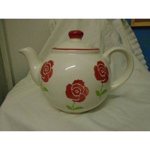 Large Whittard Floral Teapot Home Accessories