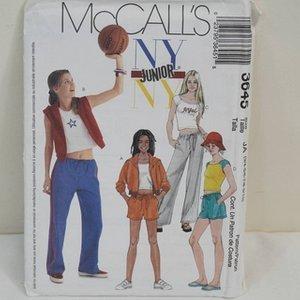 Mccalls Ny Sewing Pattern Junior  Jacket, Pants, Tops & Shorts Uncut Arts & Crafts