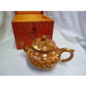 Oriental Small Golden Teapot Kitchen