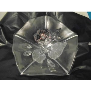 Retro Glass Embossed Fruit Bowl Home Accessories