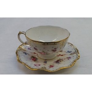 Royal Crown Derby Royal Antoinette Fine Bone Tea Cup And Saucer Home Accessories