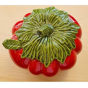 Tomato Shaped Bowl+lid+ladle Home Accessories