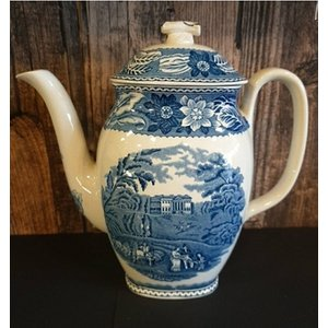 Wood & Sons Woodland Blue & White Coffee Pot Home Accessories