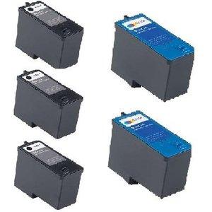 Printerinks Compatible Multipack Dell 924 Printer Ink Cartridges (5 Pack) -m4640 De 3r M4640/m4646 7396 Printer Consumables