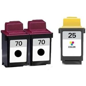 Printerinks Compatible Multipack Lexmark F4250 Printer Ink Cartridges (3 Pack) -12a1970e Ri 2b 70/20 5547 Printer Consumables