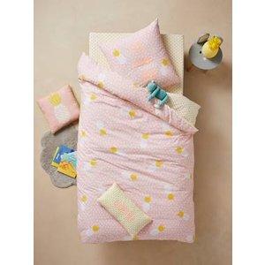 Vertbaudet Children's Duvet Cover + Pillowcase Set Pink Light All Over Printed 704060716 Duvet Covers