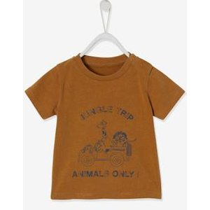 Vertbaudet Faded Effect 'jungle Trip' T-shirt, For Babies Brown Medium Solid With Design 700240772 T Shirts