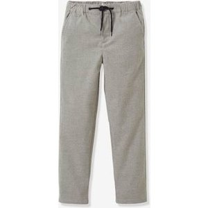 Vertbaudet Flannel Trousers For Boys, By Cyrillus Grey 707001087