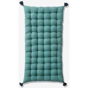 Vertbaudet Floor Cushion With Tassels Green Medium Solid With Desig 704070342 Floor Cushions & Cushions