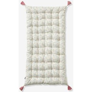 Vertbaudet Floor Cushion, Fleurettes White Light All Over Printed 704070394 Floor Cushions & Cushions