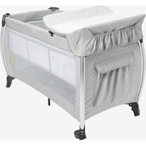 Foldable Travel Cot, Mobi'bed By Vertbaudet Grey/star Print 703280037