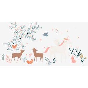 Vertbaudet Giant Sticker, Enchanted Forest Grey Light Solid With Design 705011551 Wallpaper & Stickers