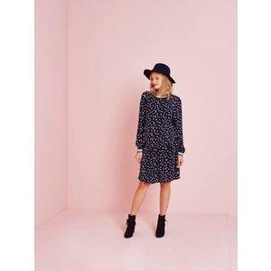 Vertbaudet Leopard Print Dress For Maternity Blue Dark All Over Printed 009700333