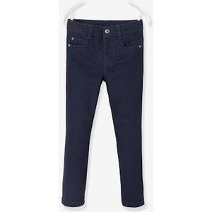Vertbaudet Narrow Hip, Straight Leg Morphologik Trousers For Boys Blue Dark Solid With Design 702410718