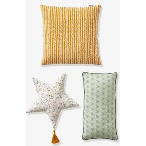 Vertbaudet Set Of 3 Assorted Cushions Yellow Medium All Over Printed 704070398 Floor Cushions & Cushions