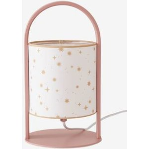 Vertbaudet Table Lamp With Handle, Stars Pink Medium All Over Printed 703080199 Lighting