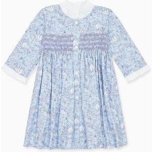 La Coqueta Blue Alisa Girl Smock Dress Gidrdr160003blu09y, Blue