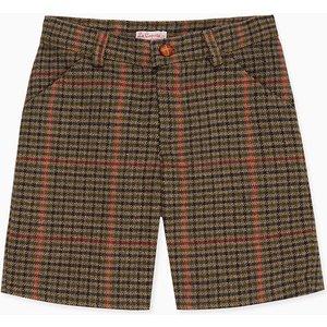 La Coqueta Brown Check Diomar Boy Shorts Bostsh180004brc04y, Brown Check