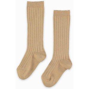 La Coqueta Camel Ribbed Knee High Socks Acsorkba00023266ys, Camel