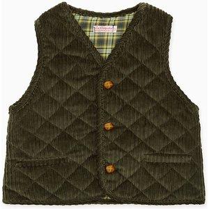 La Coqueta Dark Green Caza Boy Sleeveless Jacket Bocogi180003dgr010, Dark Green