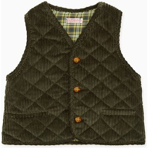 La Coqueta Dark Green Caza Boy Sleeveless Jacket Bocogi180003dgr04y, Dark Green