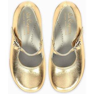 La Coqueta Gold Girl Mary Janes Shgishba0003gld034, Gold