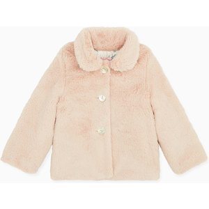La Coqueta Light Pink Delia Girl Faux Fur Jacket Gicojk180004lip010, Light Pink