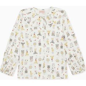 La Coqueta White Teresa Girl Shirt Gishsh180010wht04y, White