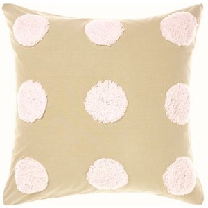 Riva Home Boho Tufted Pink Sands Cushion Cover 65x65