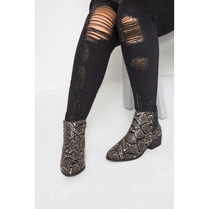 Grey Snakeskin Effect Chelsea Boots In Extra Wide Fit Yours Clothing Uk