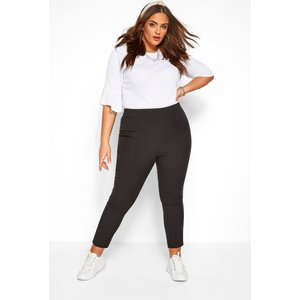 Plus Size Black Tapered Trouser 18 Yours Clothing Uk