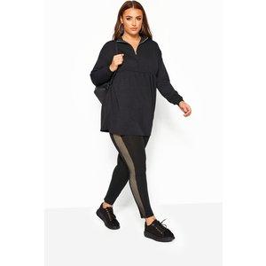 Plus Size Limited Collection Black Fishnet Leggings 16 Yours Clothing Uk