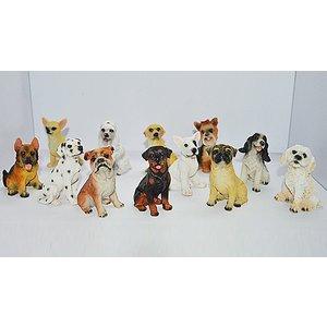 Domosecret 12-piece Resin Puppy Decoration Set Home Accessories