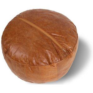 Woodland Leather Ltd 17.5-inch Moroccan-style Leather Bean Bag Home Accessories
