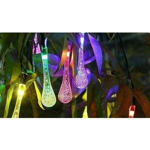 Domosecret 20 Or 30 Led Multicolour Water Droplet Solar String Lights Garden
