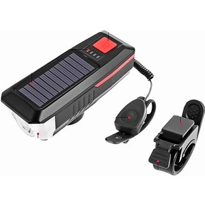 Domosecret 2-in-1 Usb Solar-powered Bike Horn & Light Gadgets