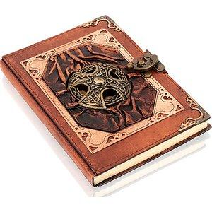 Woodland Leather Ltd 7 X 5 Inch Genuine Leather-bound Notebook - 6 Designs Arts & Crafts